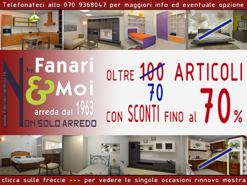 Fanari moi arreda dal 1963 for Occasioni design